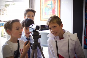 Media and Tech campers film a scene for their newsest film on Tuesday June 30, 2015.