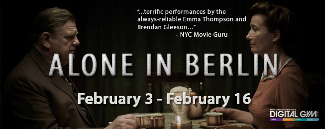 "Emma Thompson in ""ALONE IN BERLIN"" directed by Vincent Pérez (February 3-16)"