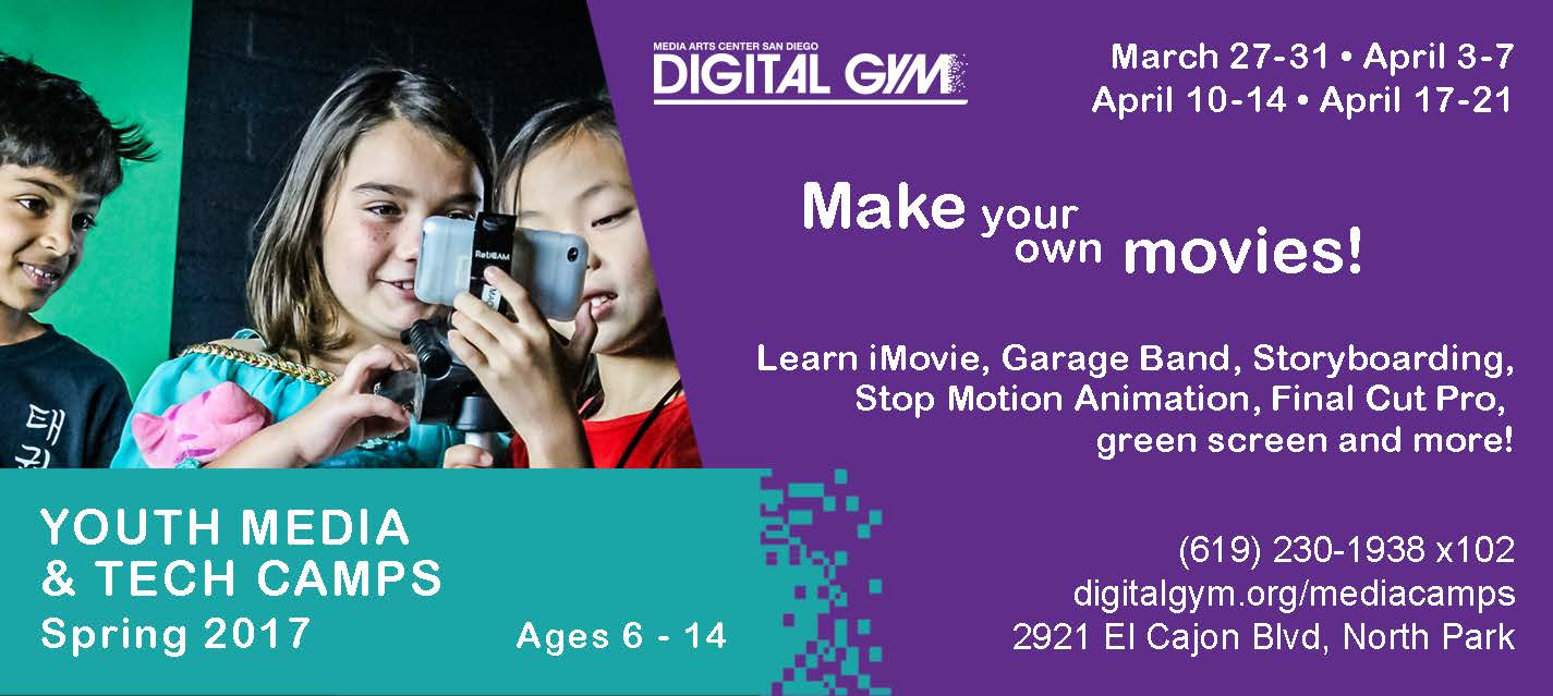 2017 Spring Youth Media & Tech Camps (March 27 – April 21)