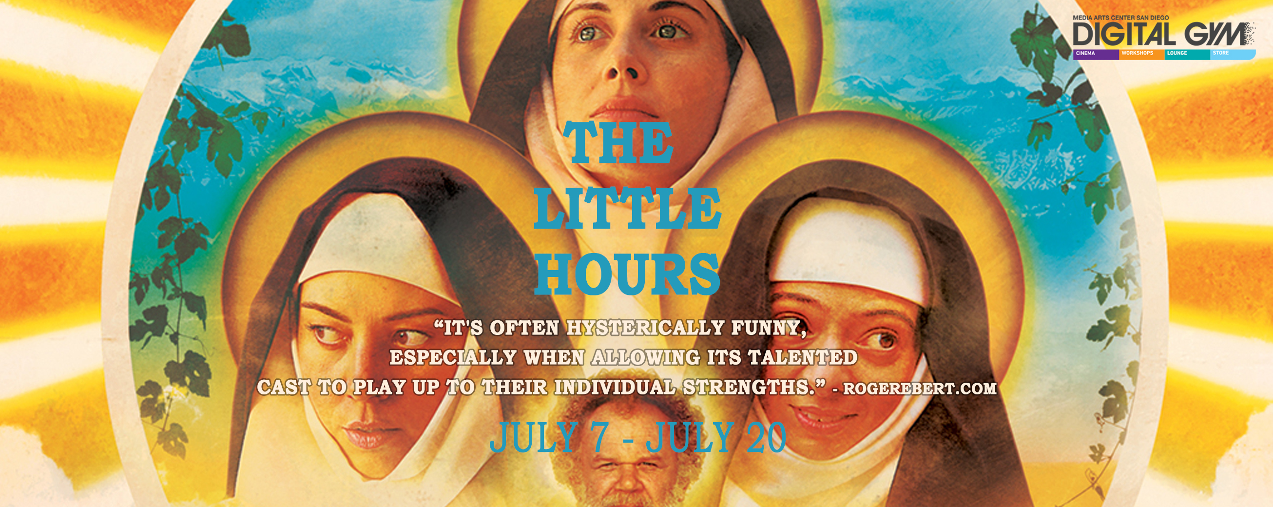 "Medieval Comedy ""The Little Hours"" Starring Aubrey Plaza (July 7th – July 20th)"
