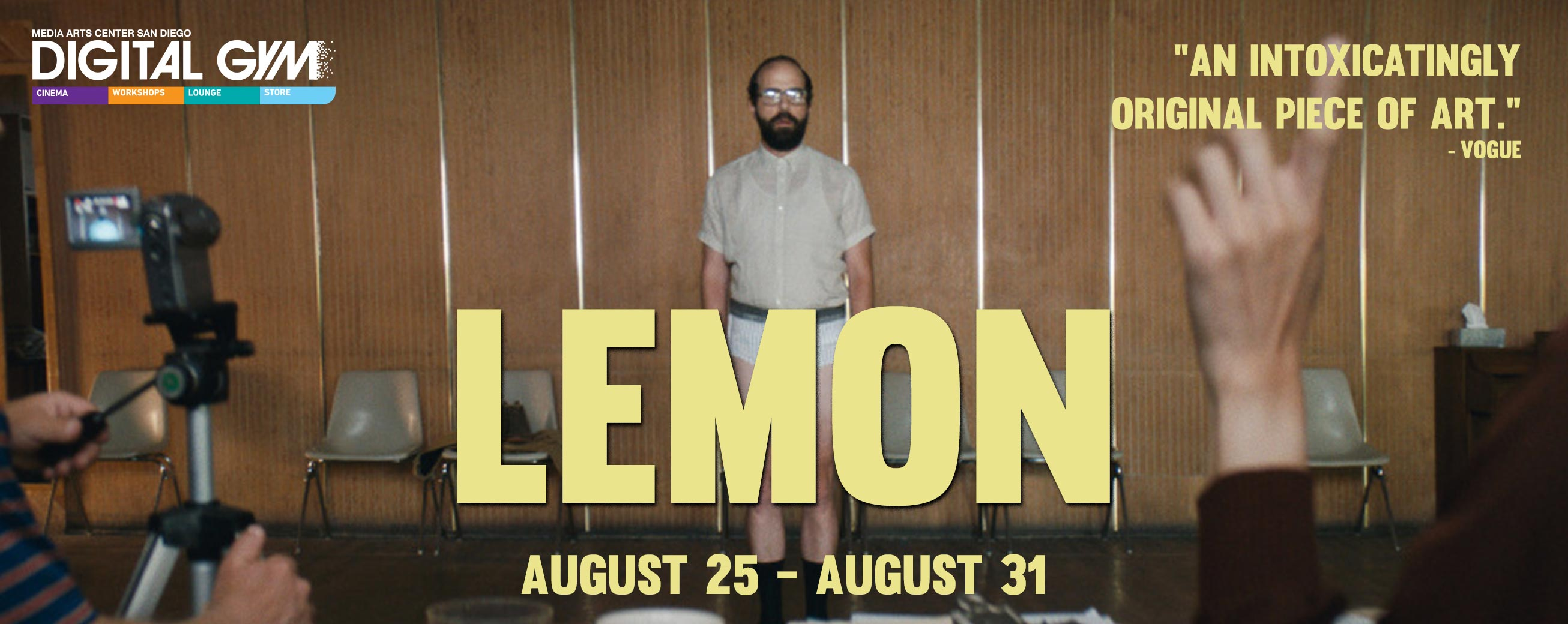 """Lemon"" starring Brett Gelman, Judy Greer, Michael Cera, and Gillian Jacobs (August 25 – August 31)"