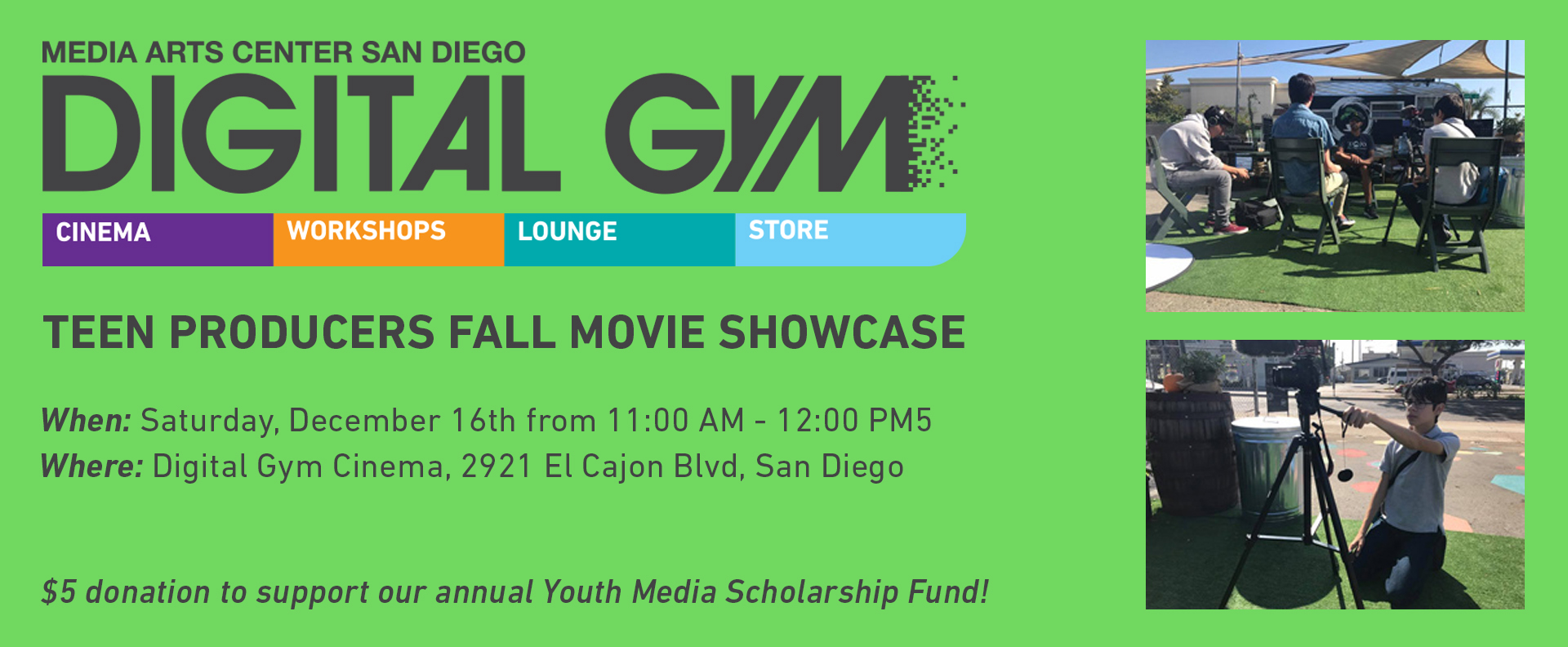 Fall/Winter Teen Video Showcase (Dec 16)