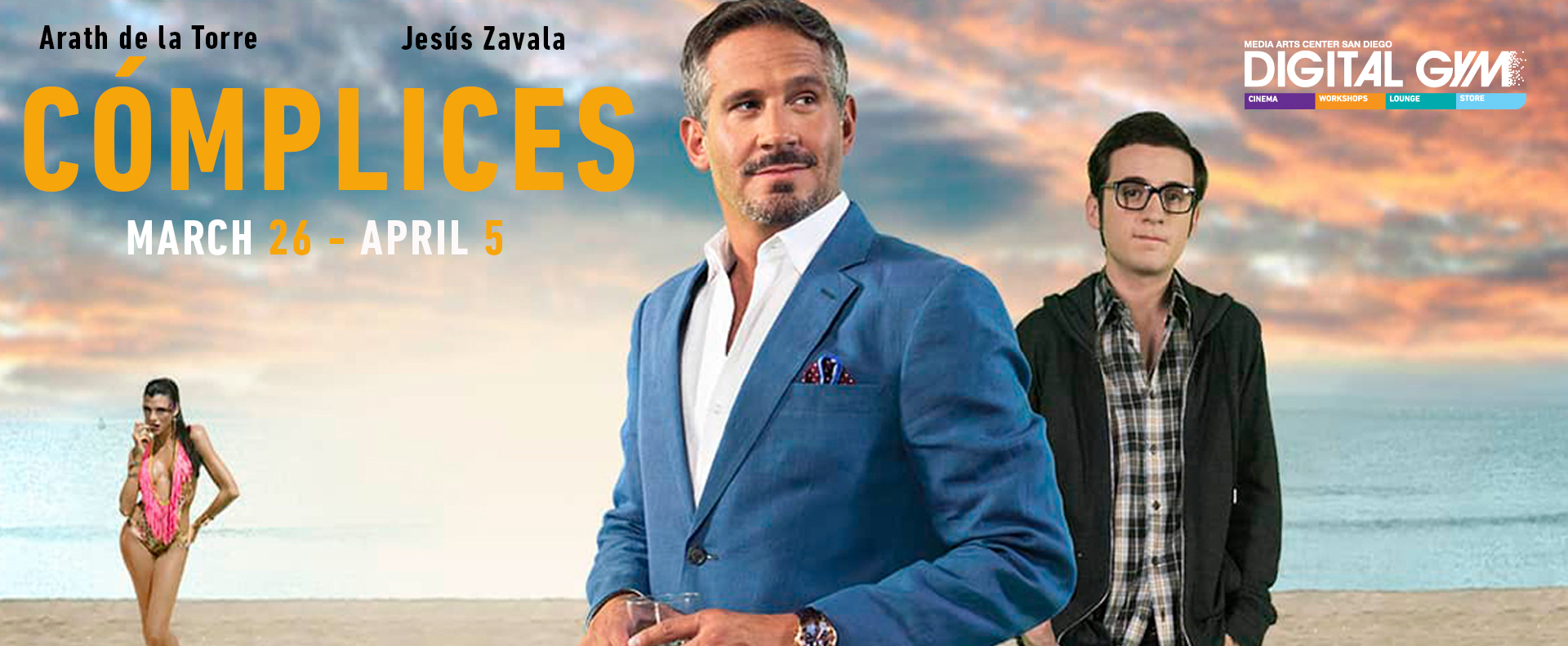 CÓMPLICES- Arath de la Torre, Jesus Zavala in comedy from the Dominican Republic (March 26 – April 5)