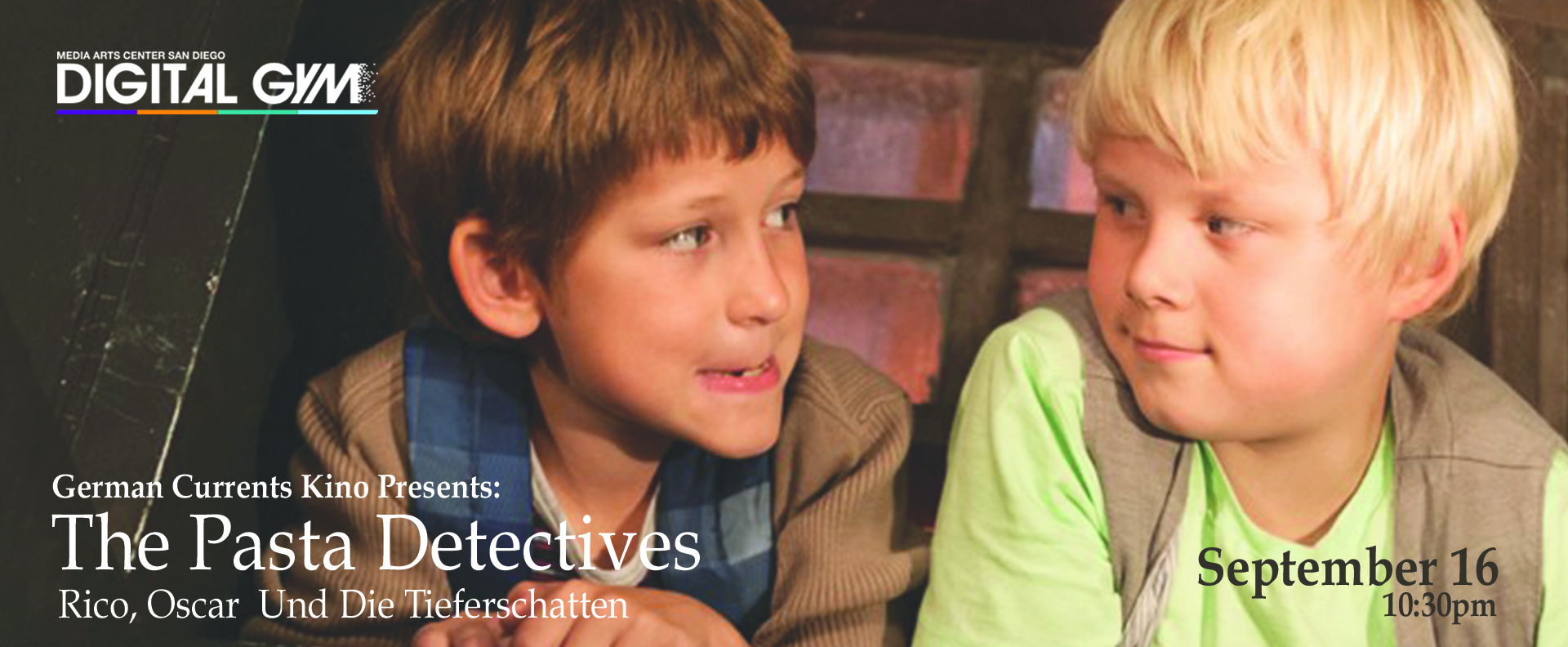 German Currents Kino Presents: The Pasta Detectives (Rico, Oskar UND DIE TIEFERSCHATTEN) (September 16)