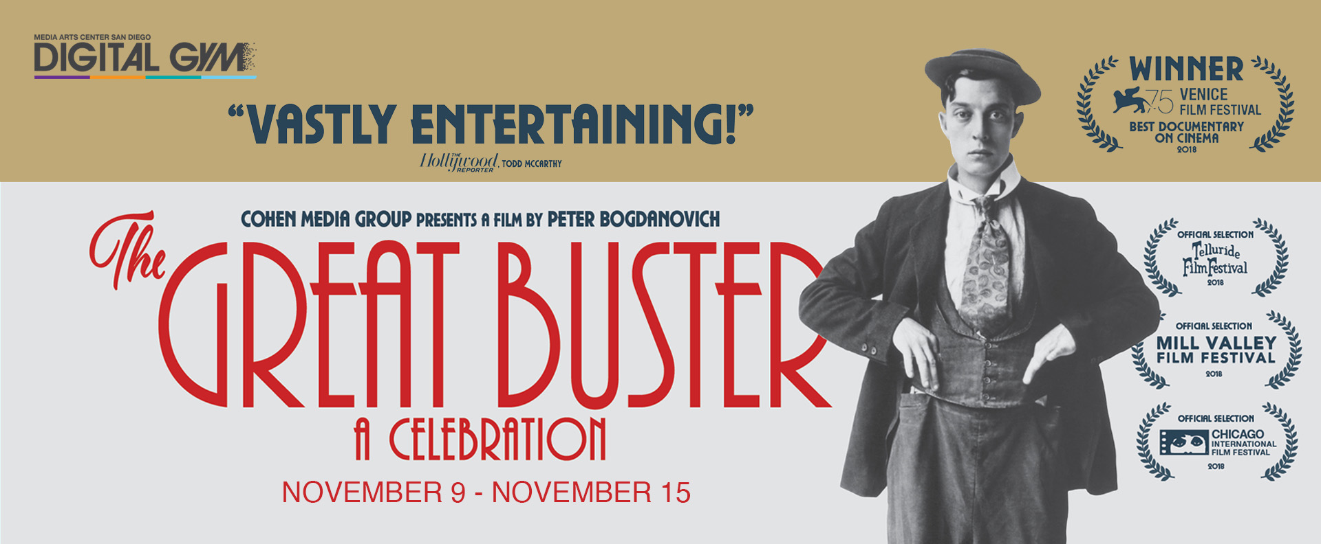 Last Chance Indies presents The Great Buster: A Celebration  (November 9 – November 15)